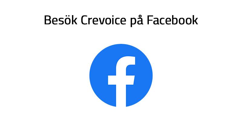 Besök Crevoice på Facebook